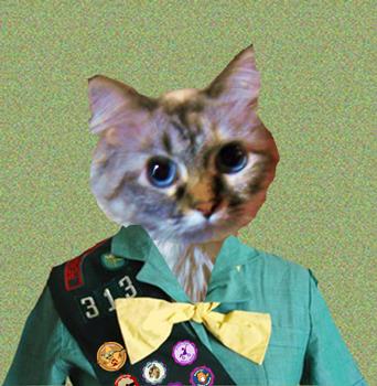 Don't meez look official in meez new unifowm?? Meez be so purroud.