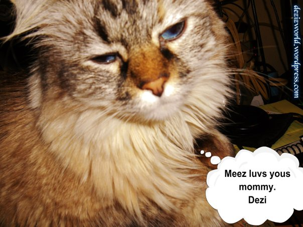 Meez luvs yous mommy.