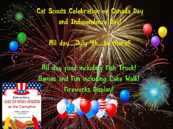 Cat Scouts  July 4 party
