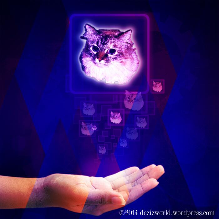 0dw Dezi purple hologram cosmic geometry
