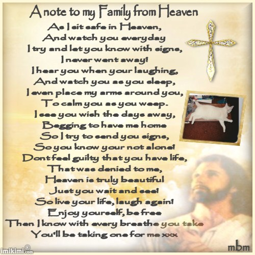A note to my family from Heaven - 2HEoW-12y - normal