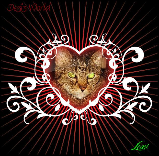 0dw Lexi floral heart