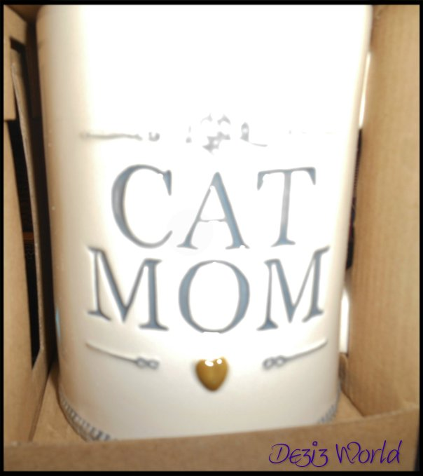 Isn't mommys new coffee cup cute? It sez it all purrfectly.