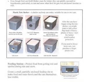 feral cat shelter instructions