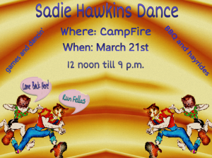 --Cat Scouts Sadie Hawkins announcement