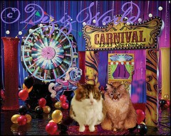 Andy and me takin' a memowy foto at da cawrnival