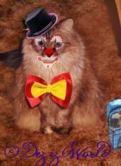 Meez a face painted clown fur da cawrnival