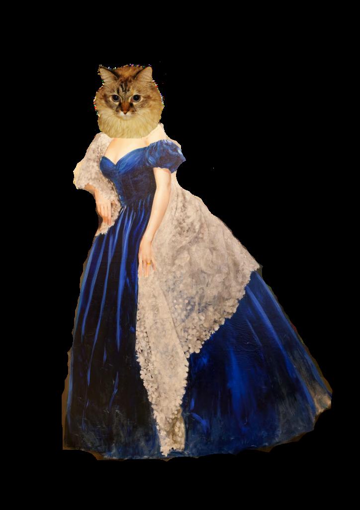 Dezi as Scarlet Ohara in blue