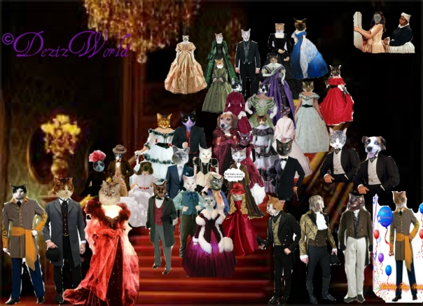 Photo of all the guests who sent them in to be included, on the regal staircase of Tara from gone With the Wind