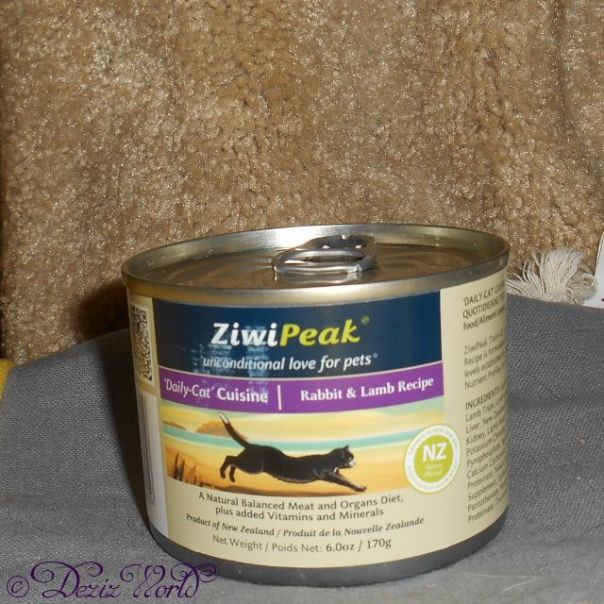 outer can of Ziwi Peak Rabbit and Lamb Cat Food