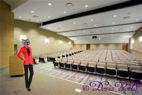 Dezi in the lecture hall