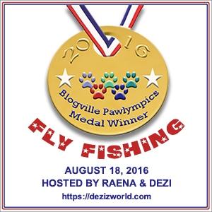 Blogville Pawlympics Fly Fishin' badge