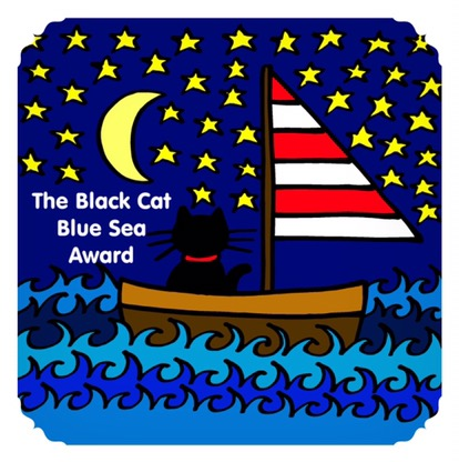 Black Cat Blue Sea Award given by Jeanne Foguth 10/27/2016