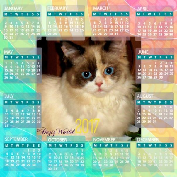 Raena in a 2017 calendar