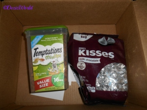 Cat treats and hersheys kisses
