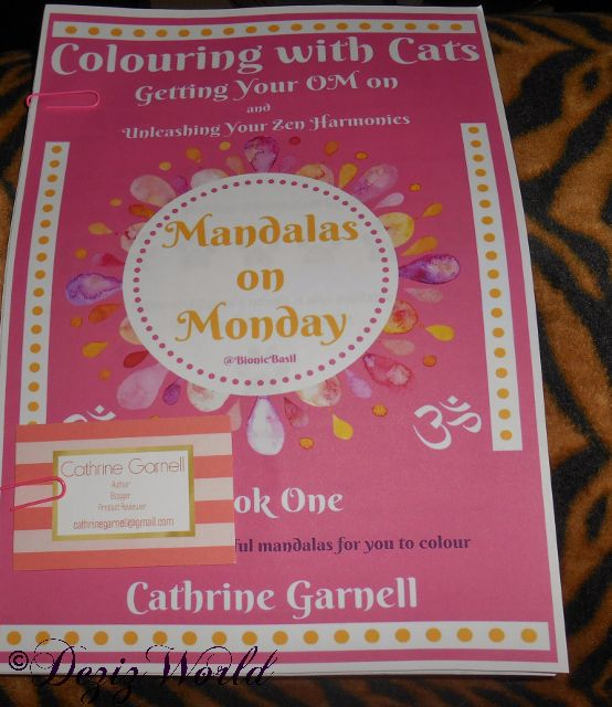 Mandala's on Mondays with Cat coloring book by Catherine Garnell