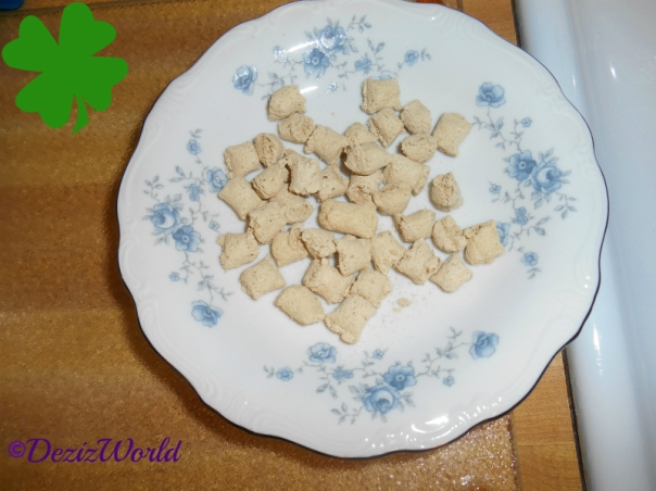 Nature's Variety Freeze Dried Cat Food in a China plate