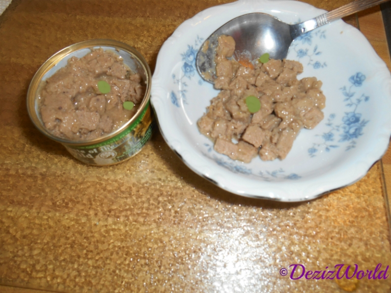 Taste of the wild canned food on a plate