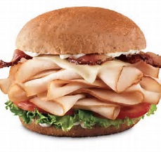 Turkey and bacon sandwich