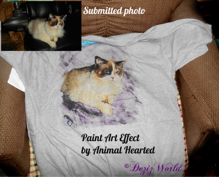 Personalized tee shirt from Animal Hearted