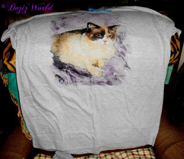 Finished personalized tee shirt from Animal Hearted