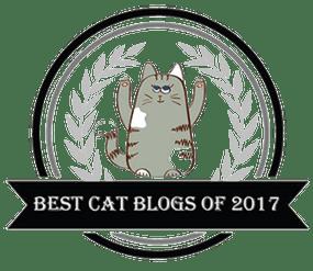 Best Cat Blogs of 2017 badge