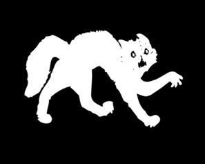 Scared white cat emoji
