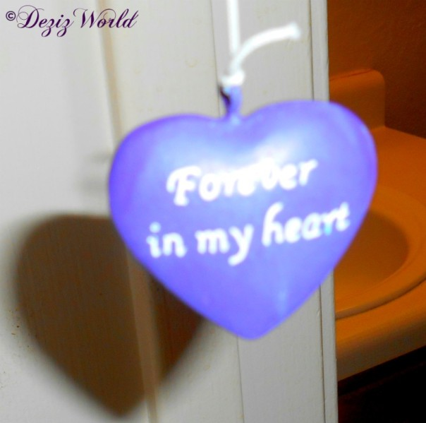 Forever in my heart heart shaped windchime ringer