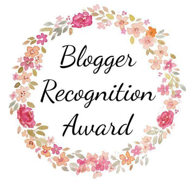 Blogger Recognition Award Badge