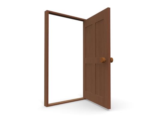 Open door clip art