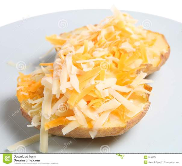 Baked potato and cheese