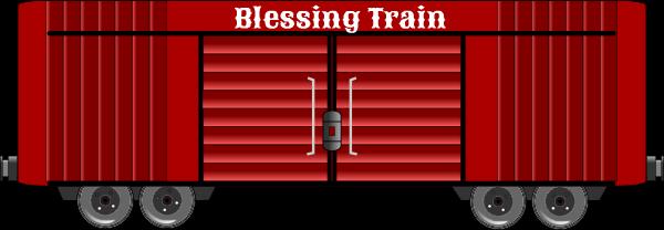 Blessing Train red box car clip art