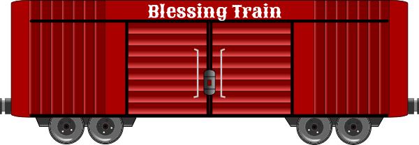 Blessing Train red box car clip art