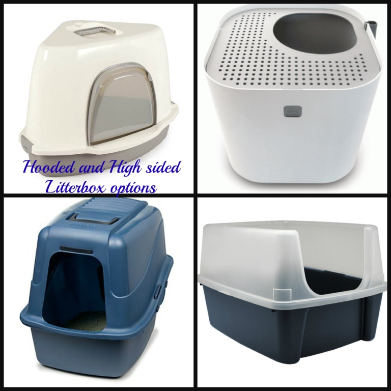 Hooded and High Sided Litter boxes