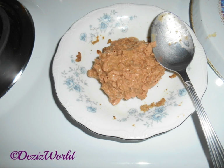 Plate of American Journey wet cat food
