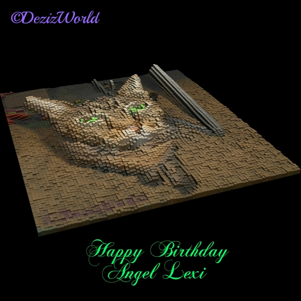 3D silouhette of Lexi for a birthday card