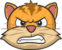 Angry cat face clip art