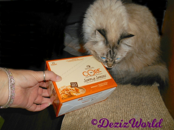 Dezi sniffs wellness core box