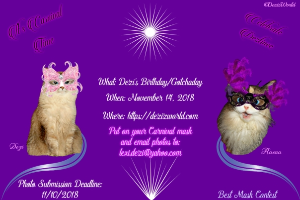 Dezi's Venetian Carnival Birthday party invite