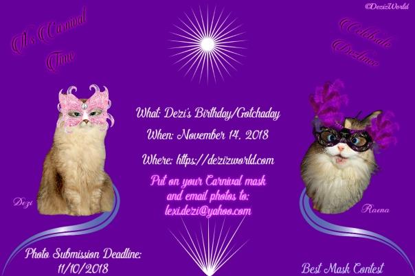 Dezi's Venetian Carnival Birthday party invite