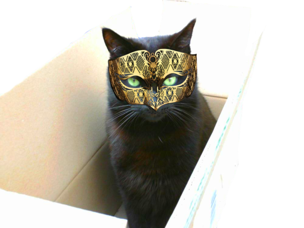 Spike in a mask in a box