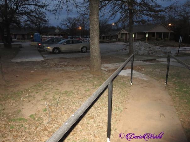 Parking lot and sidewalk post jackhammer