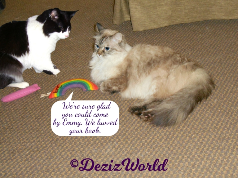 Dezi and Emmy of 15 and meowing chat