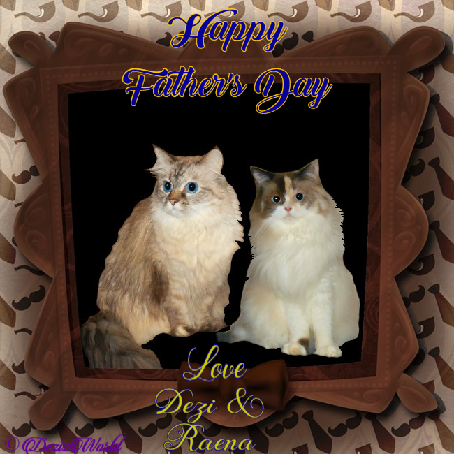 Dezi and Raena in Father's day frame