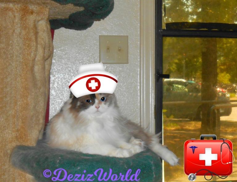 Raena with a nurse cap