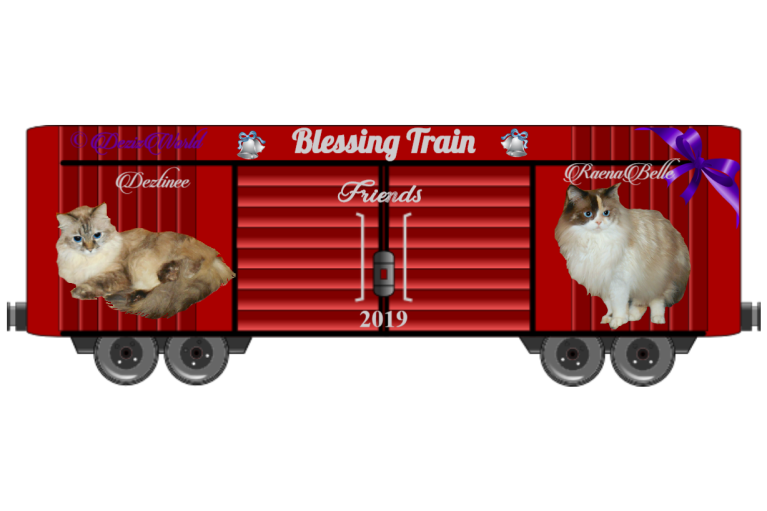 Dezi and Raena 2019 Friendship Blessing Train boxcar