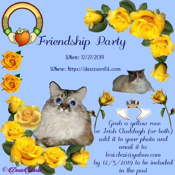 Friendship party announcement