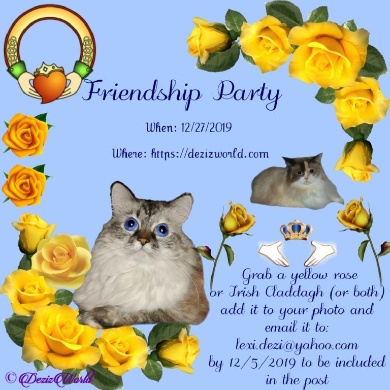Friendship party announcement