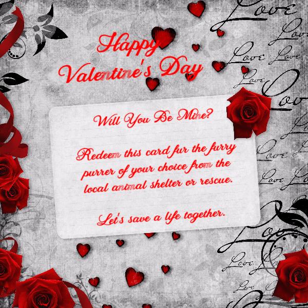 Adoption Valentine's card