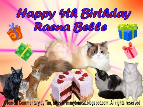 Raena birthday card from Timmy and family